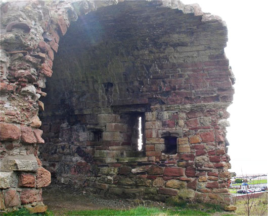 Ardrossan Castle arrow slit
