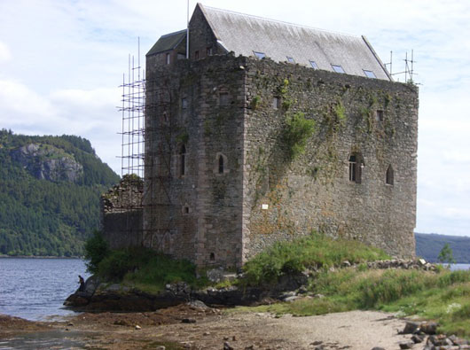Carrick Castle undergoing restoration
