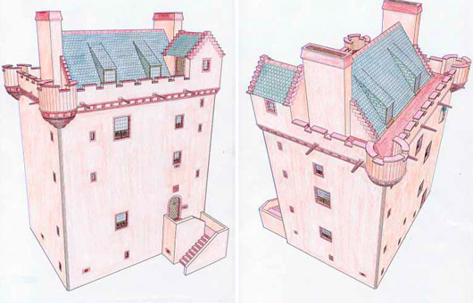 Craigietocher Tower drawings
