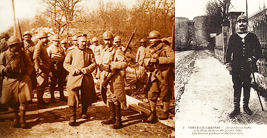 FEATURE Coucy soldiers 1916