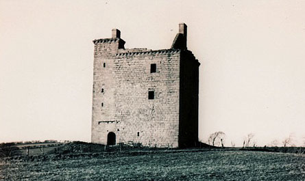 Mains Castle before restoration