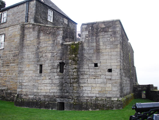 Stirling Castle with bullet marked forework