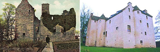 Then and now - Hatton Castle