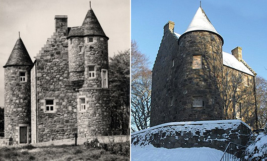 Wallace Tower (after the move - and now)