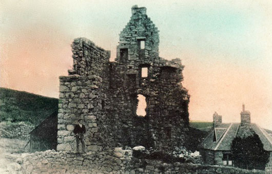 Birse Castle before restoration