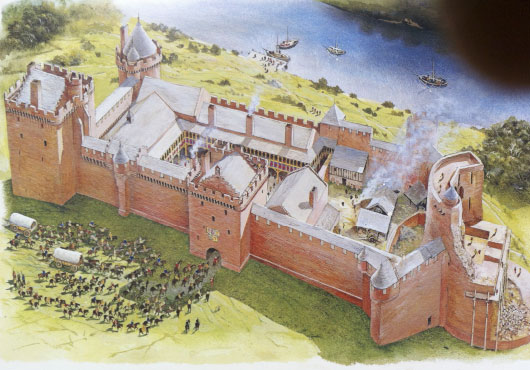 FEATURES-Bothwell Castle Artist Impression