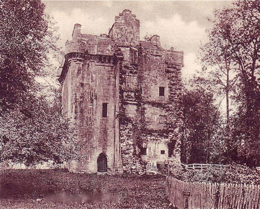 Inverqharity Castle demolished wing