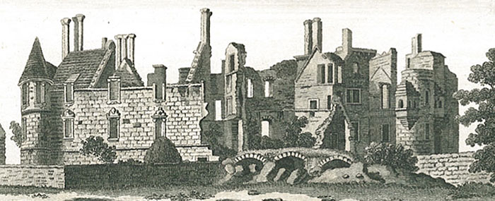 Seton Palace - Lay In Ruins After Damage By Jacobite Troops In 1715