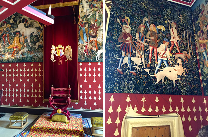 Stirling throne tapestry